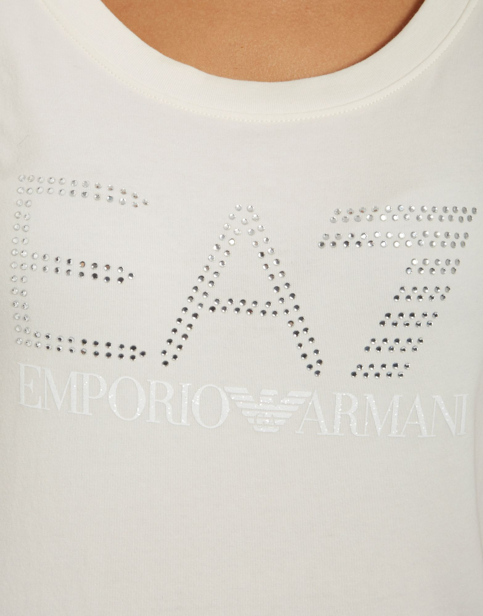 Emporio Armani EA7 Graphic Strass T-Shirt