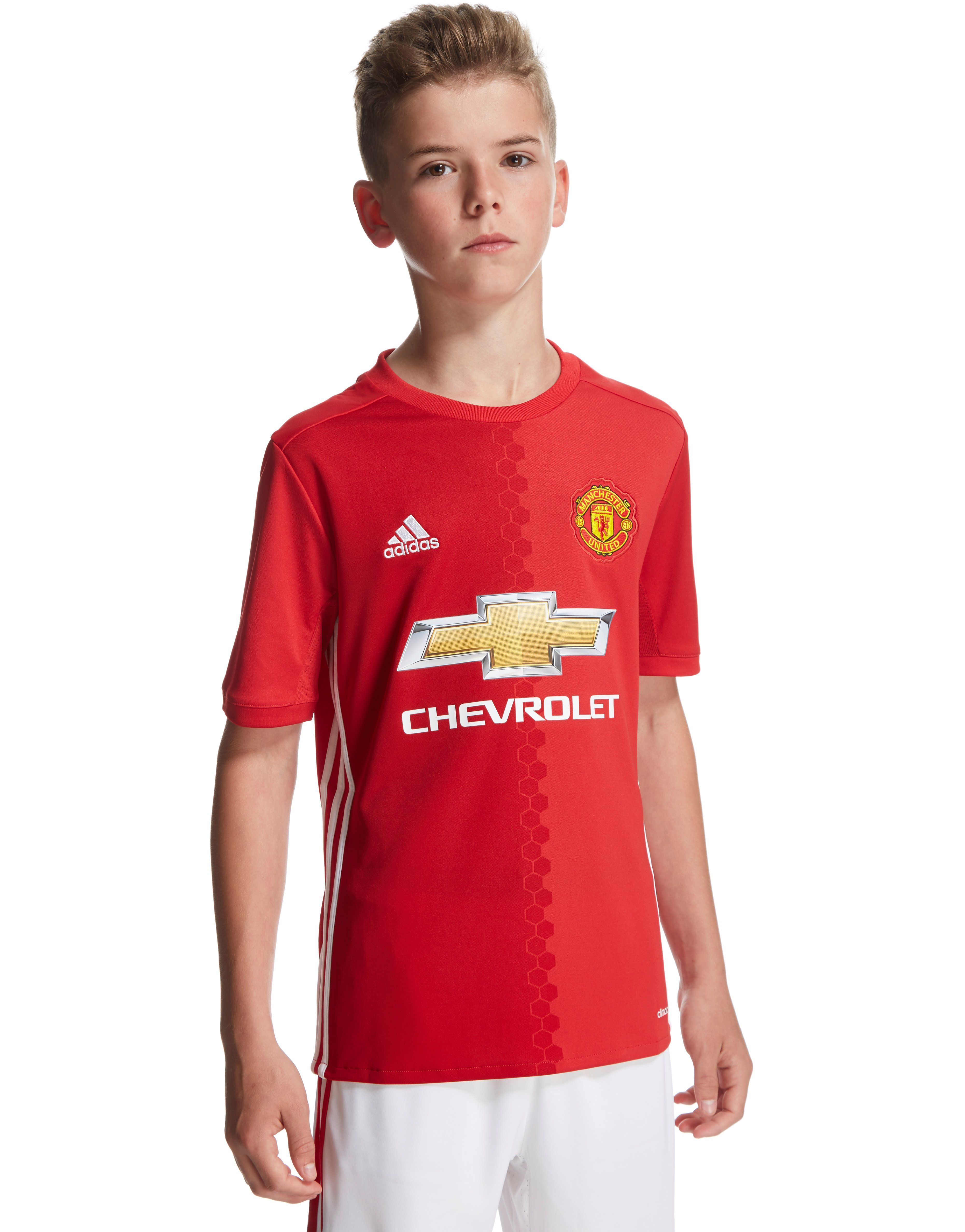 adidas manchester united fc 2016 17 home shirt junior