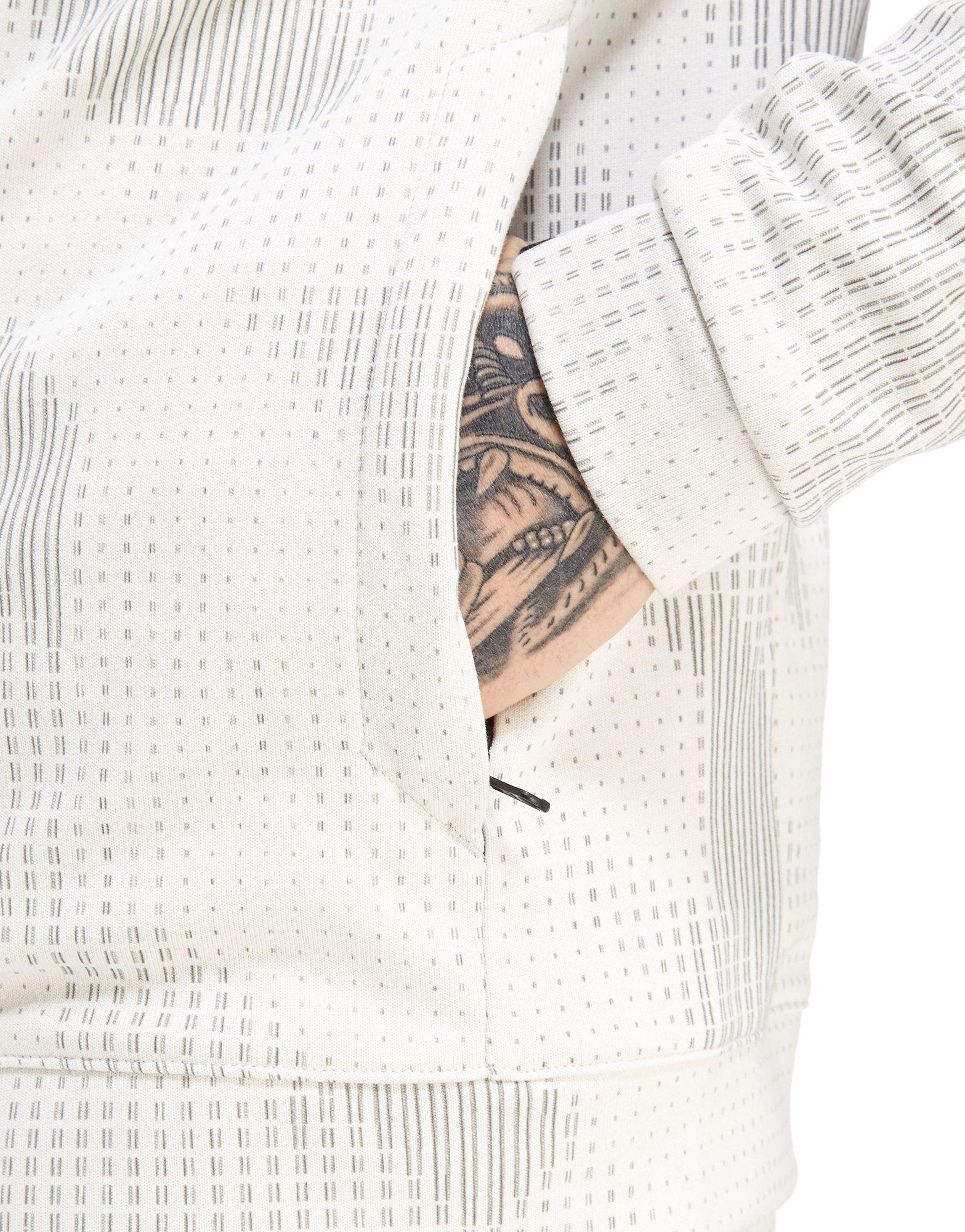 Nike Nike All Advance All Over Zip Over Hoodie Weiss Advance Print Print Full wIU5wn6qa