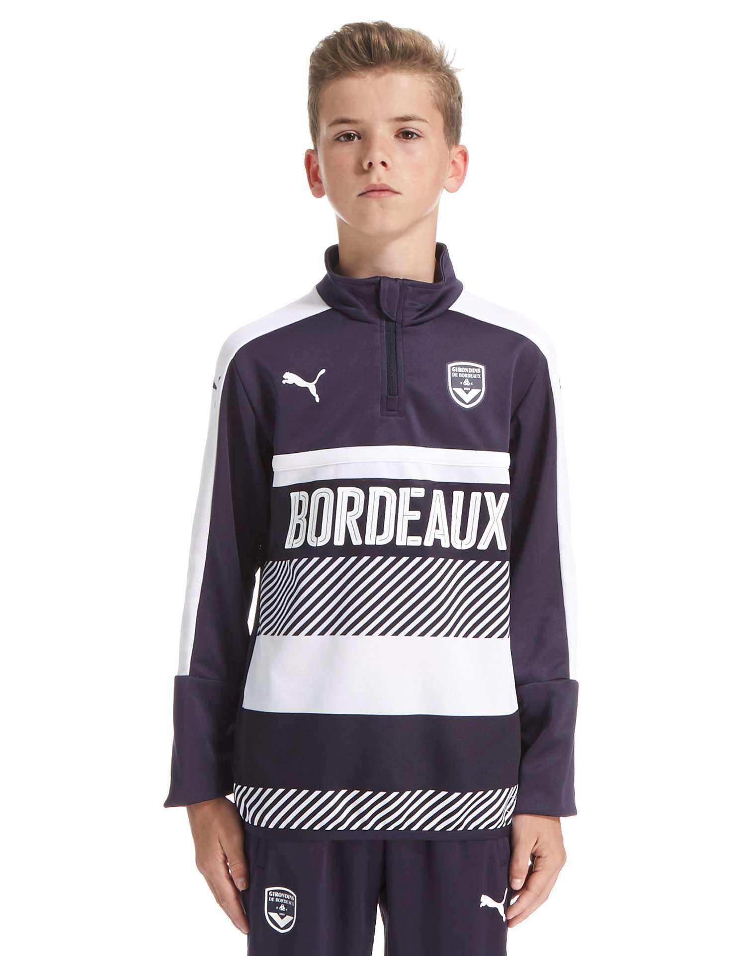 PUMA Bordeaux 2016/17 Quarter Zip Training Top Junior
