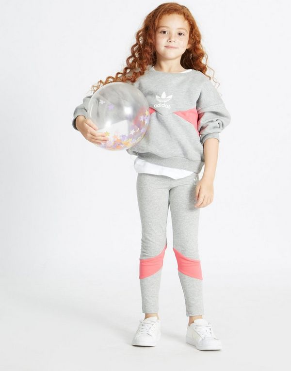 00ffa06b701e adidas Originals Girls  Crew Sweatshirt Leggings Set Children