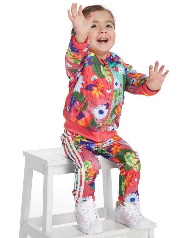 adidas Originals Girls\' All Over Print Superstar Tracksuit Infant ...