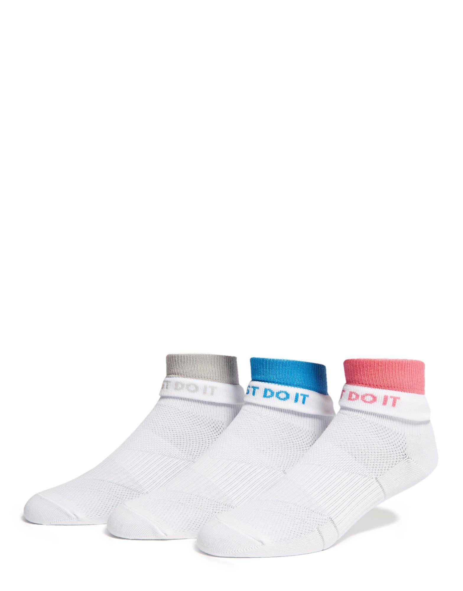 Nike 3 Pack Women's Quarter Socks