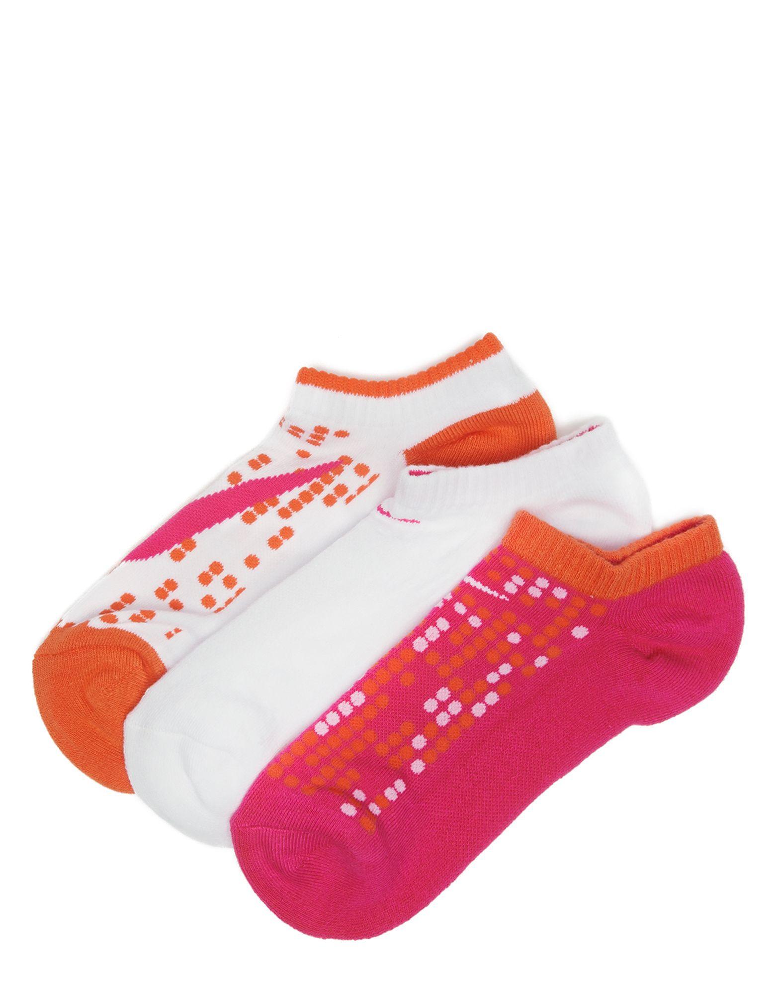 Nike 3 Pack Girls Low Ped Socks