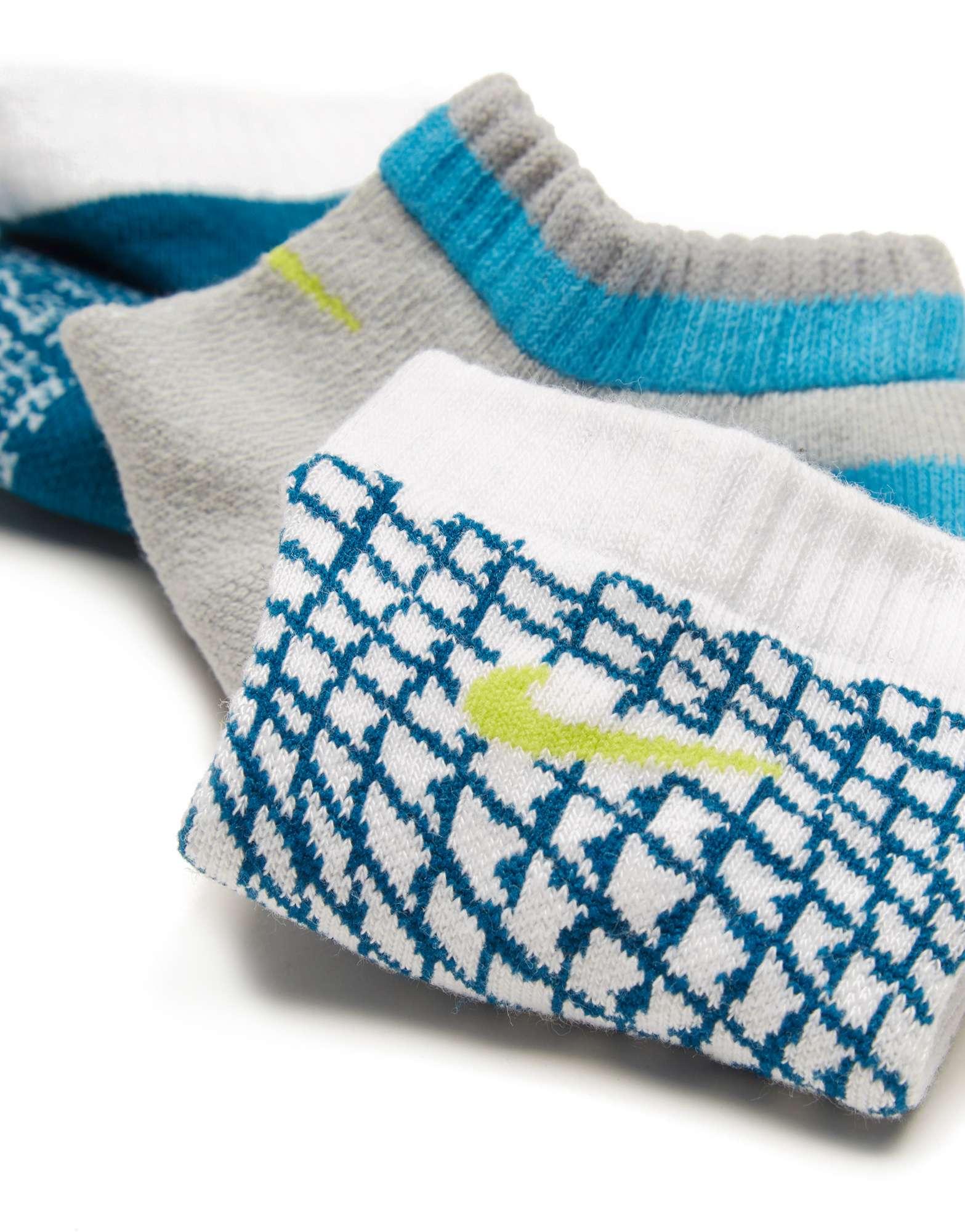 Nike 3 Pack Boys Low Ped Socks