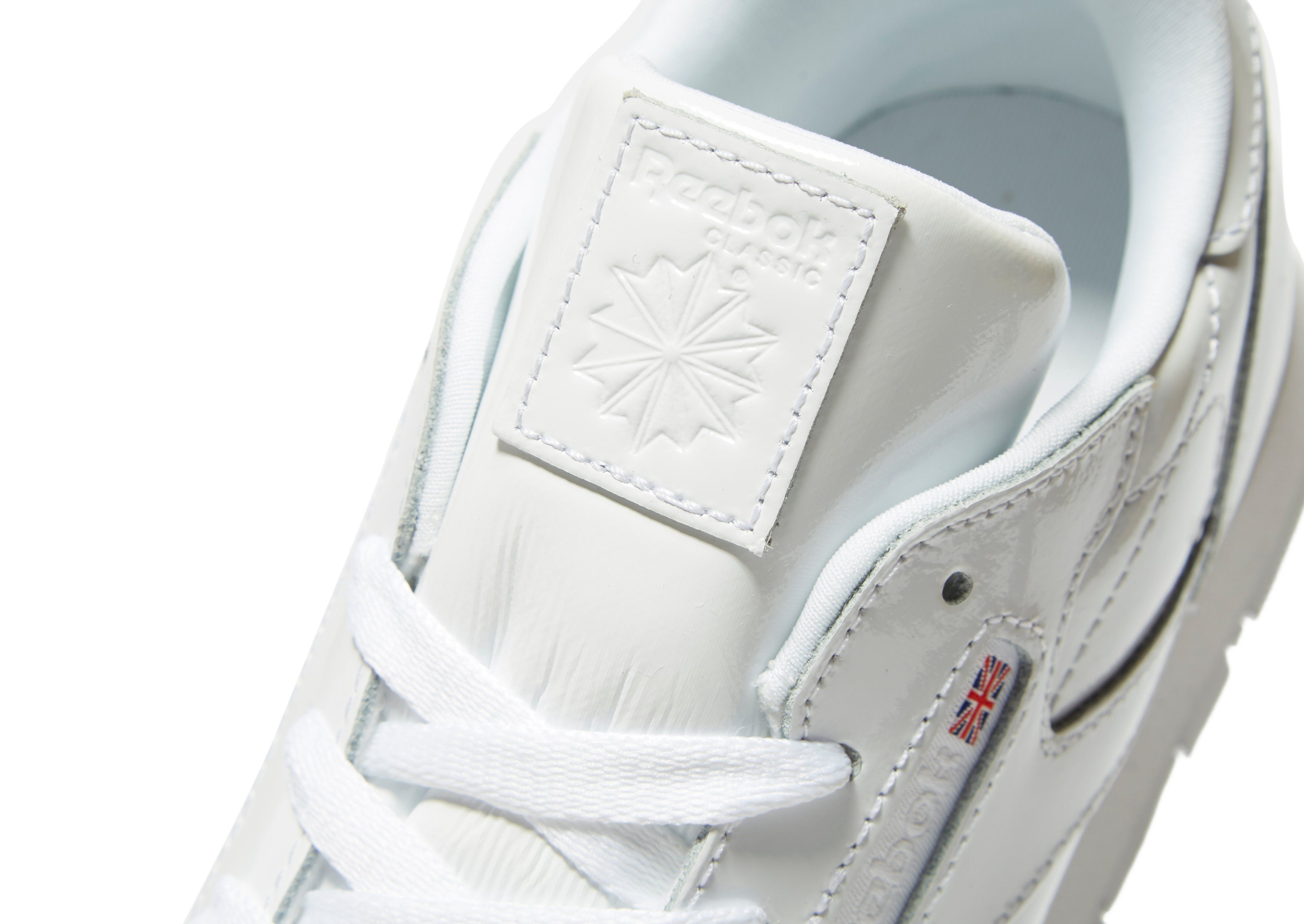 Reebok Classic Leather Patent Children Weiss Freies Verschiffen Sneakernews RhVKXtv