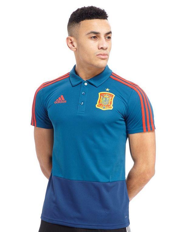 Adidas spain 2018 polo shirt jd sports for Spain polo shirt 2014