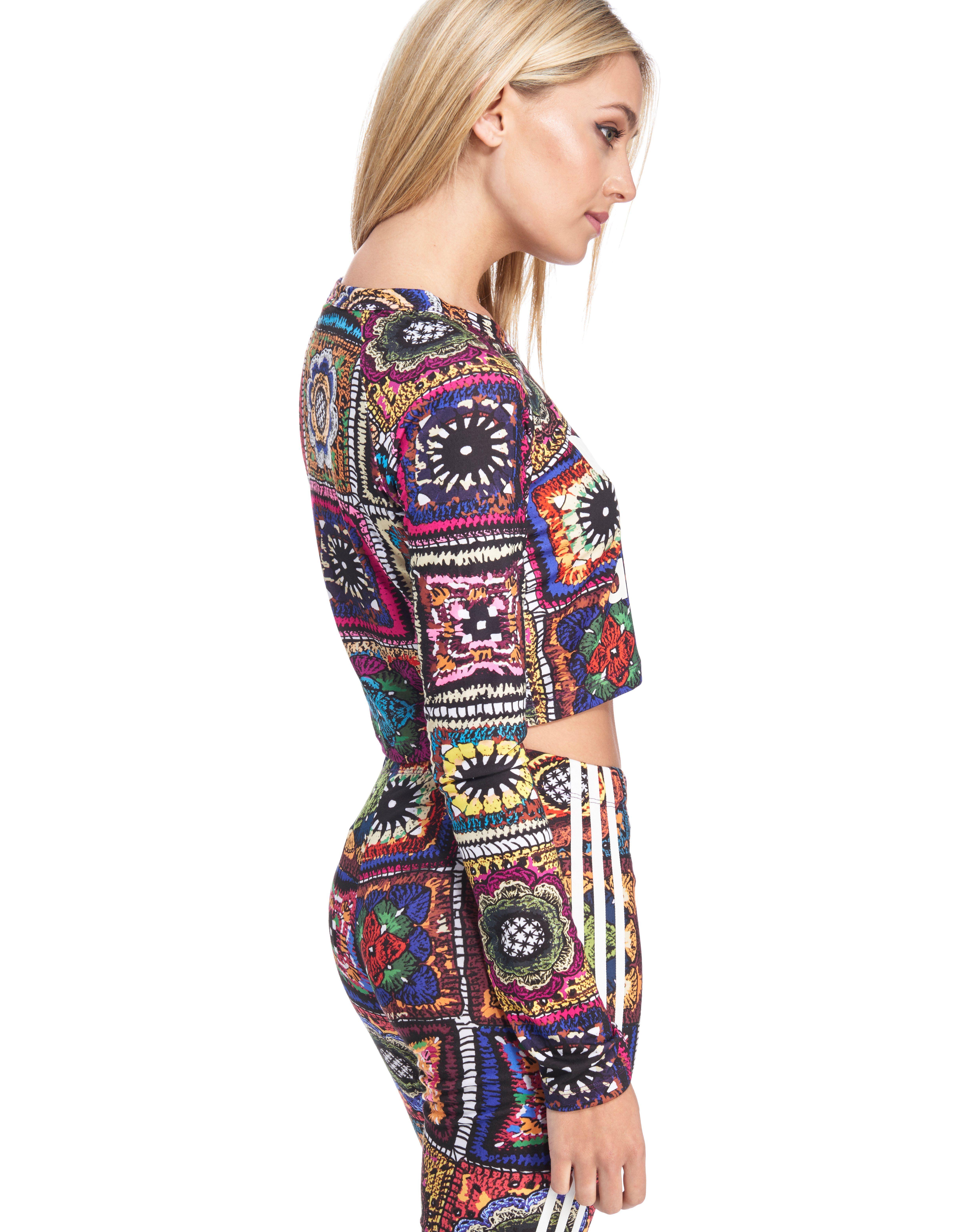 adidas Originals FARM Crochita Longsleeve Crop T-Shirt