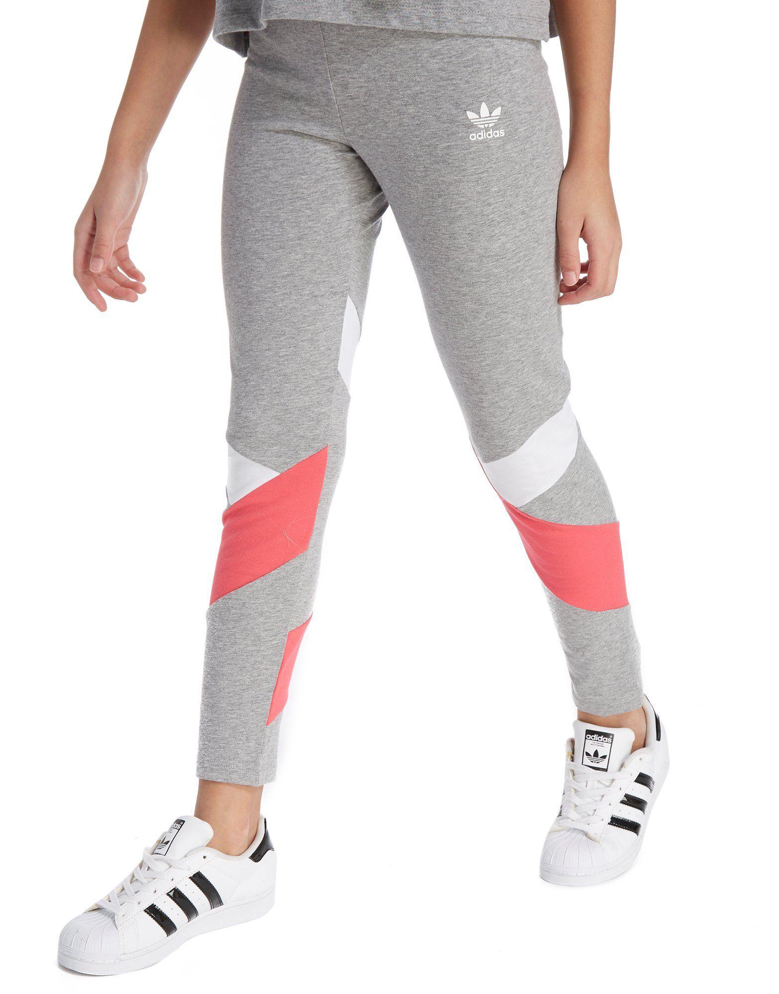 adidas Originals Girls' MOA Logo Leggings Junior ...