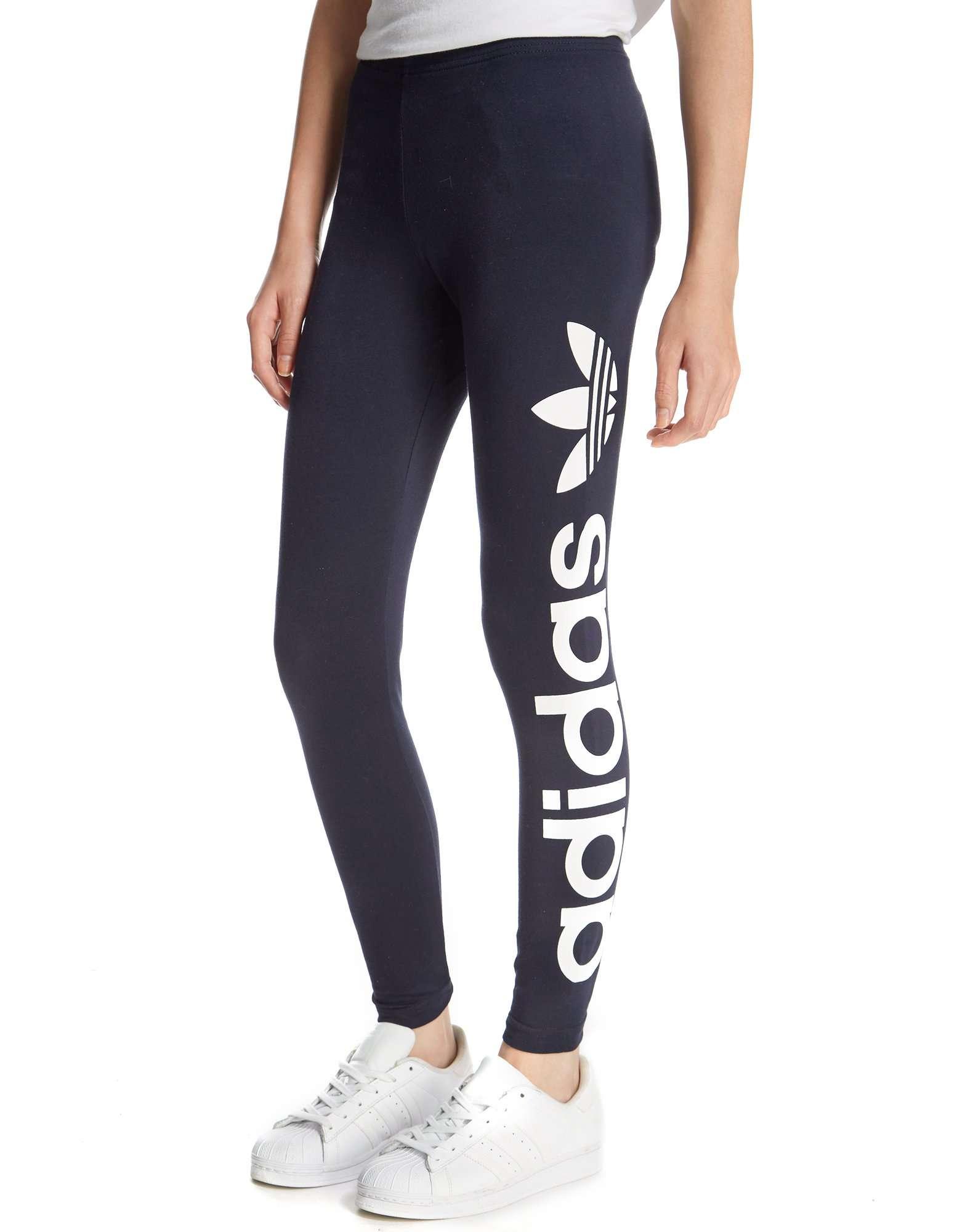 adidas originals girls logo leggings junior jd sports. Black Bedroom Furniture Sets. Home Design Ideas
