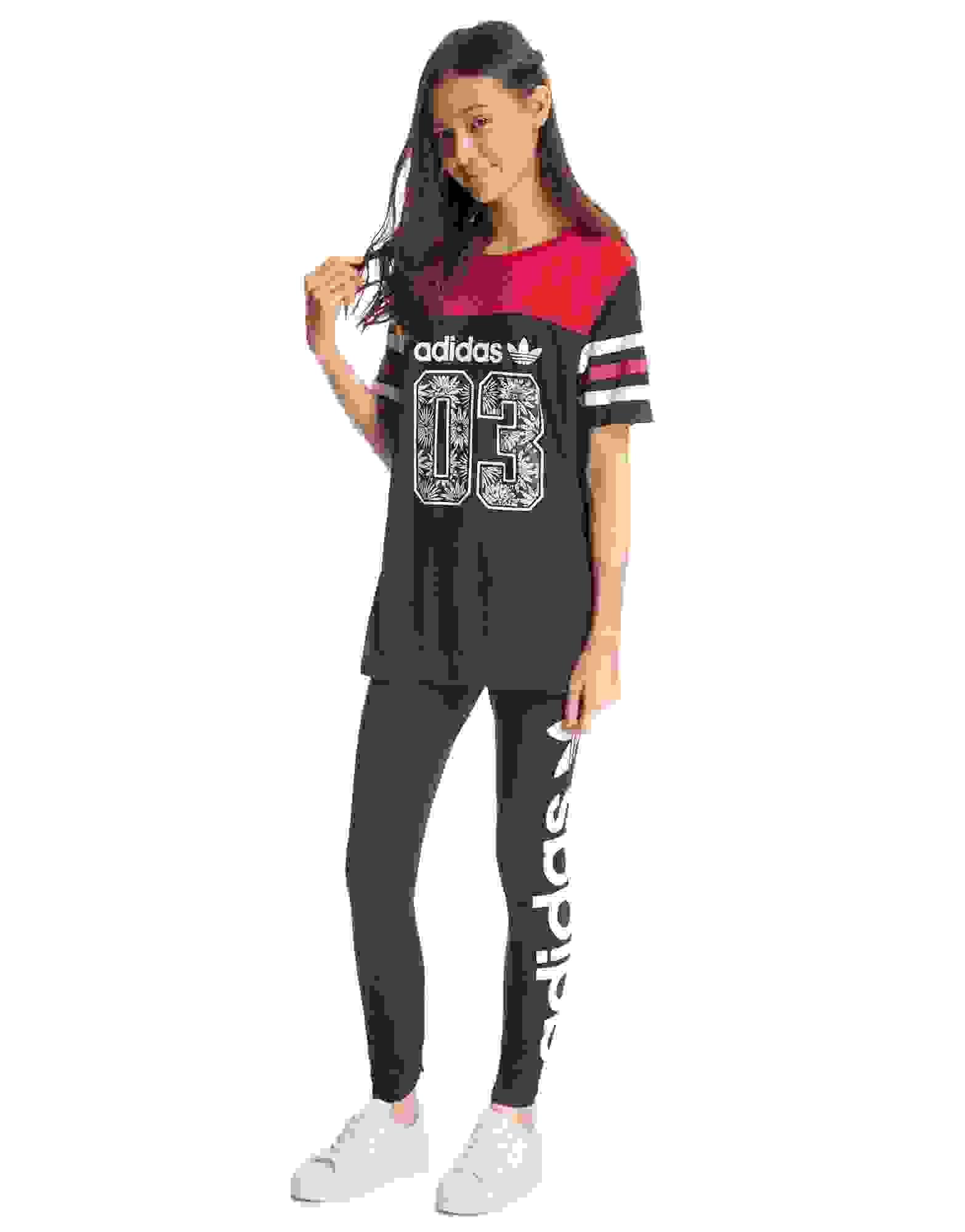 adidas girls. adidas originals girls logo leggings junior c