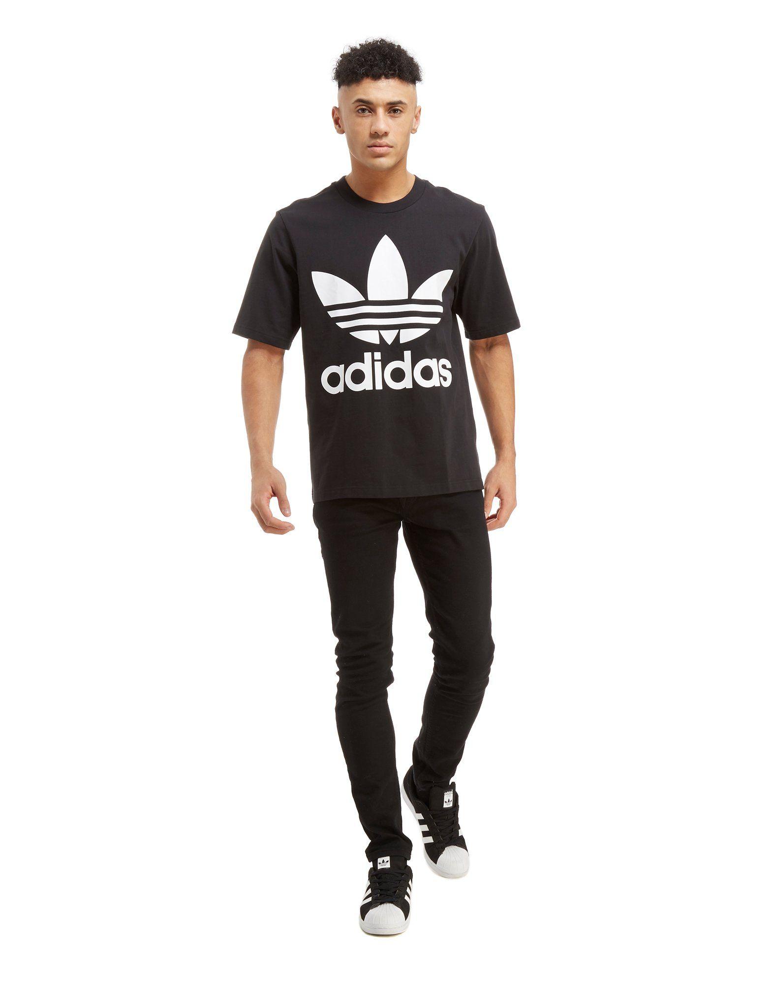 adidas Originals Trefoil Oversized T-Shirt Schwarz Neu Auslass 2018 Neu Für Billig Zu Verkaufen Countdown-Paket Spielraum Offiziellen 1V3L6