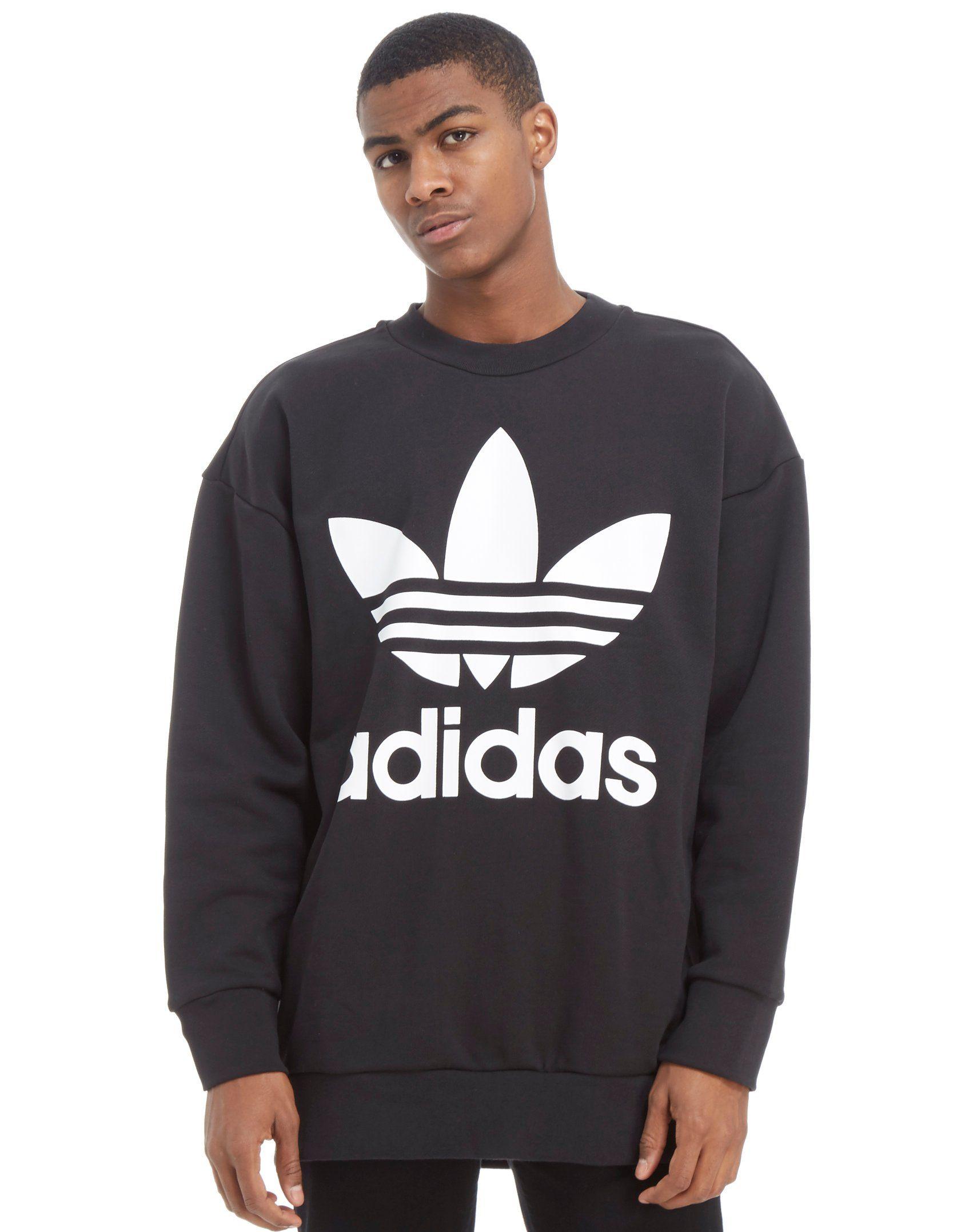 Adidas Originali Trifoglio Sports Enorme Equipaggio Felpa Jd Sports Trifoglio bf9faa