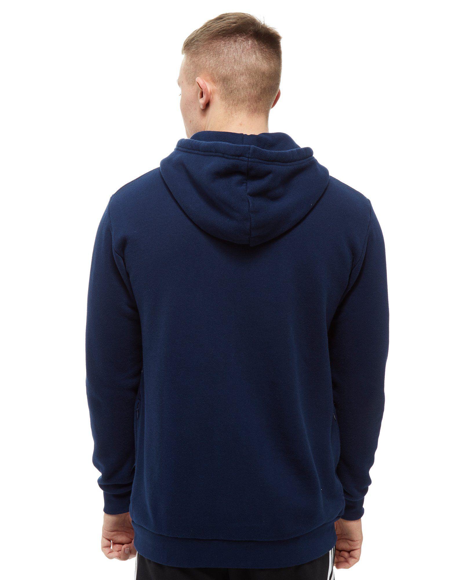 adidas Originals Trefoil State Overhead Hoodie Blau