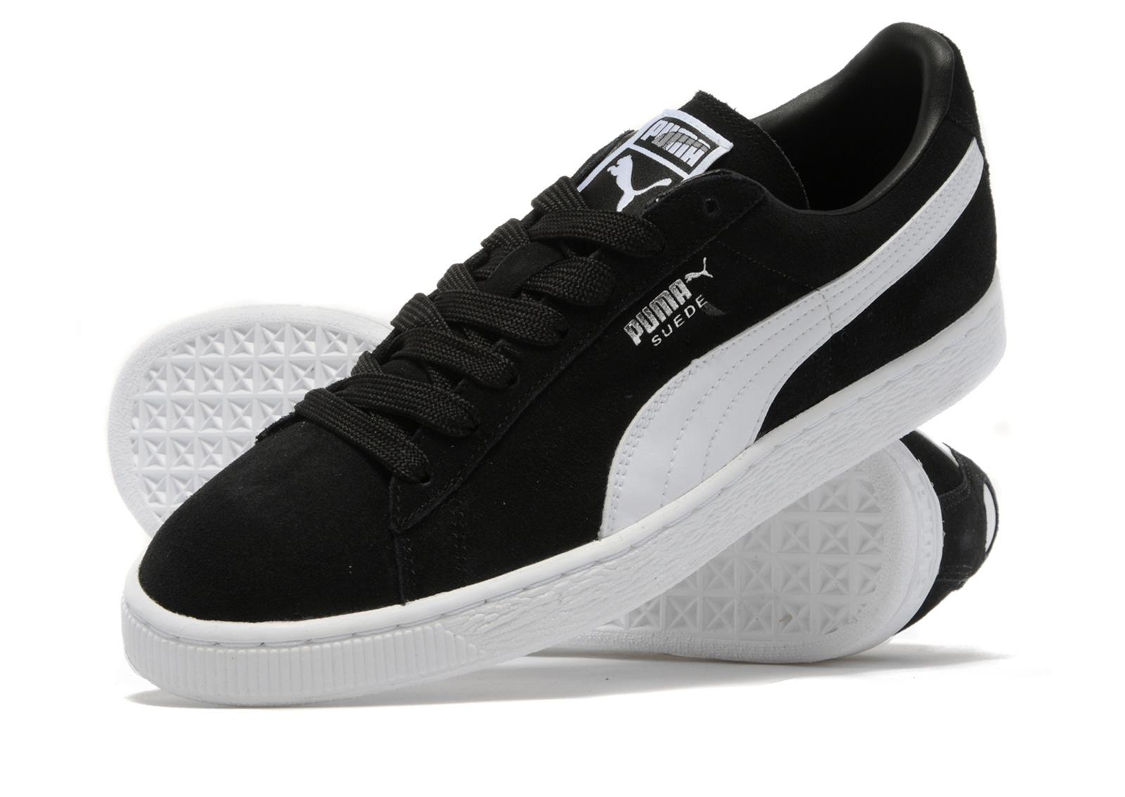 nike air max suede black and white puma