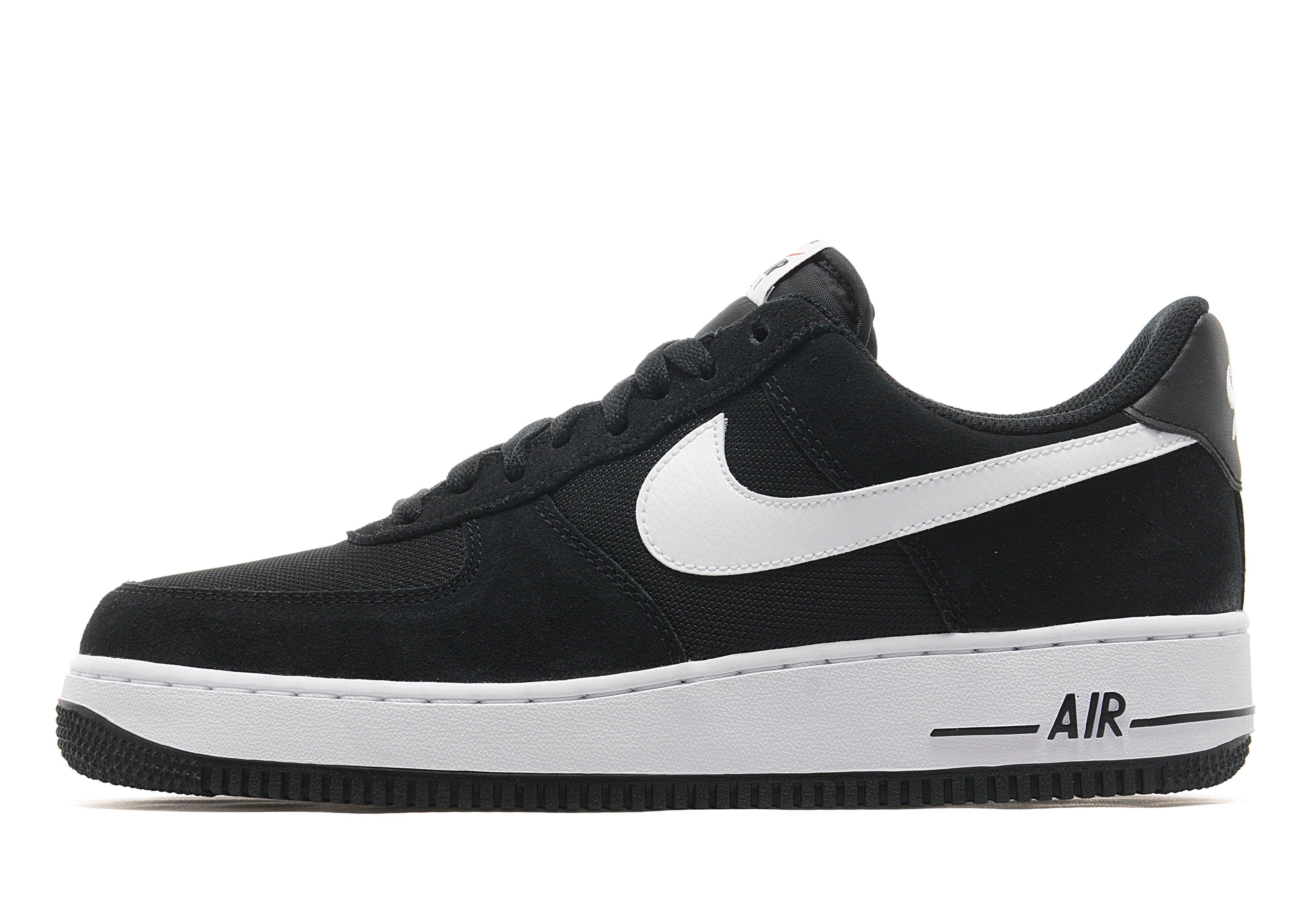 dames nike air force 1 low premium zwarte schoenen