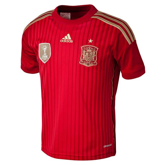 adidas Spain 2014 Junior Home Shirt