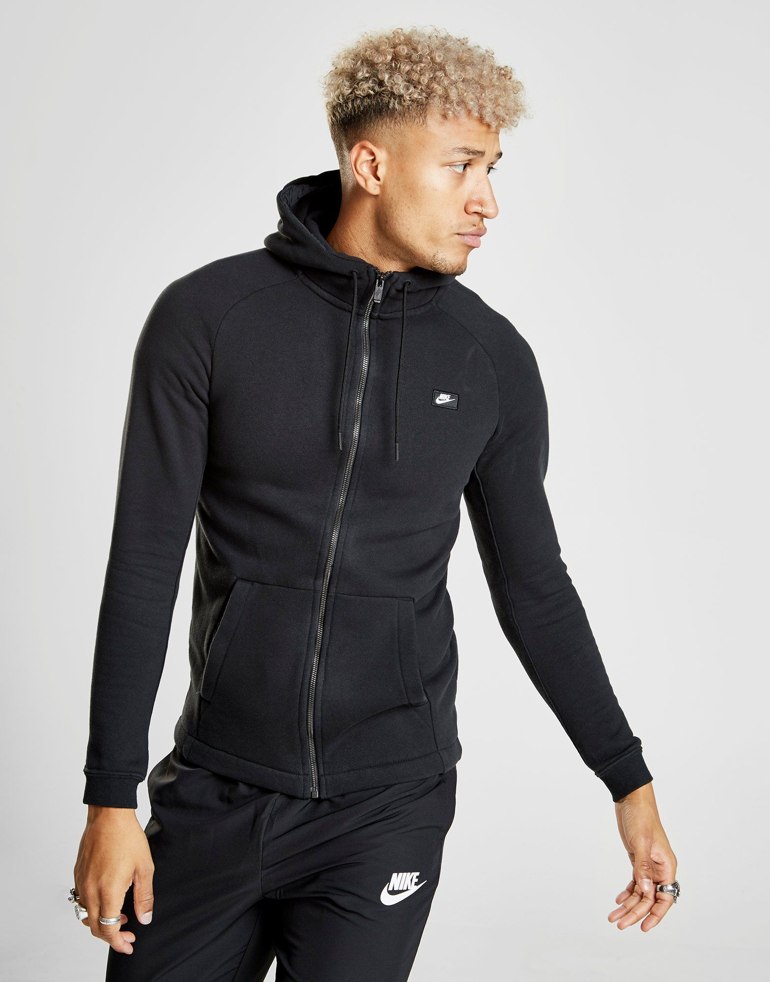 Modern Schwarz Nike Nike mit Rei脽verschluss Modern Hoodie durchgehendem Rei脽verschluss Modern Hoodie durchgehendem Hoodie Nike Schwarz mit EazHqZn4