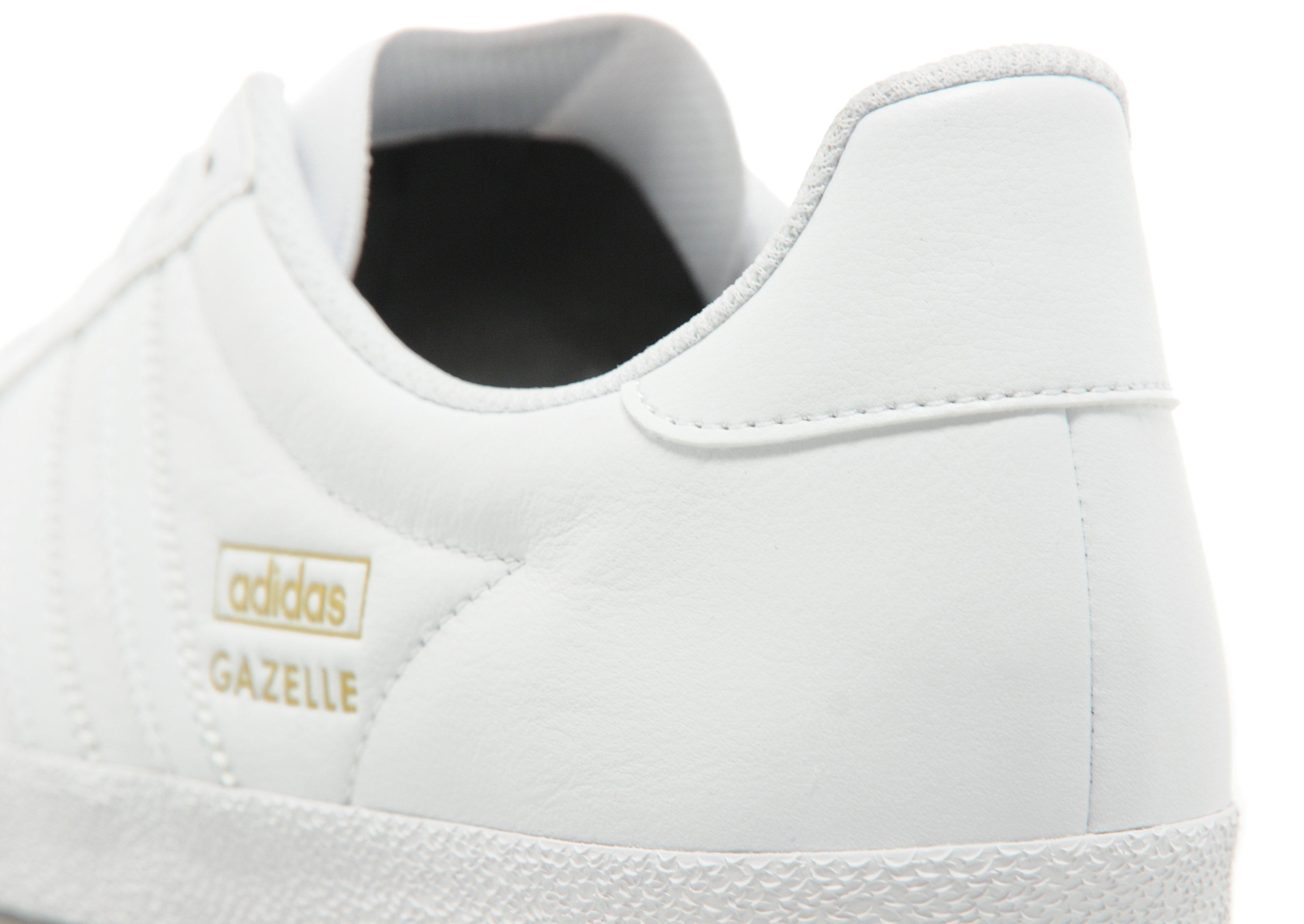 Adidas originals gazelle og leather white dress
