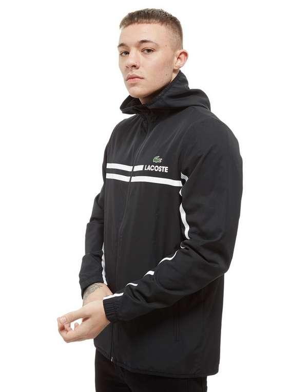 Stripe Lacoste Through Zip Sports Hooded JacketJd xBWdCroe