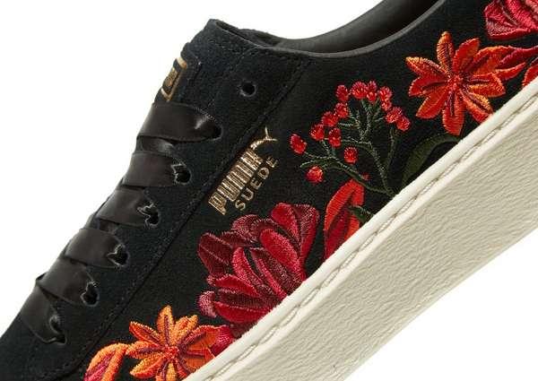 PUMA Suede Platform Floral Women s  106315a82