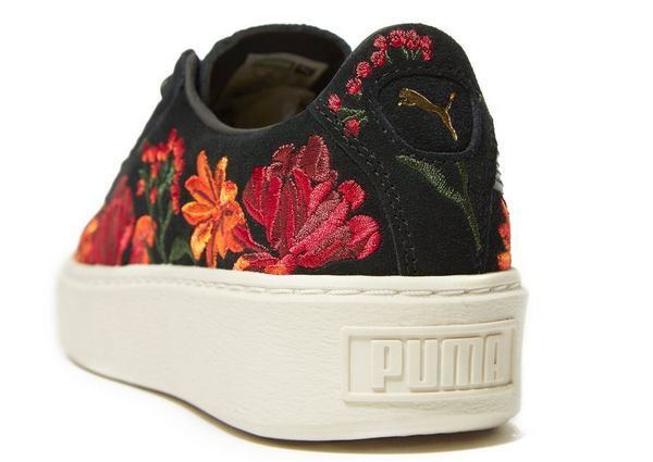puma basket platform flower