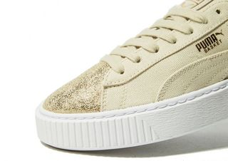 timeless design 968f3 31147 PUMA Basket Platform Canvas Women's