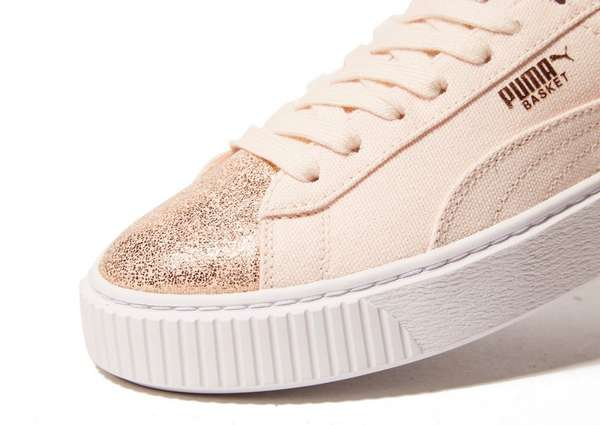 PUMA Basket Platform Canvas Women's