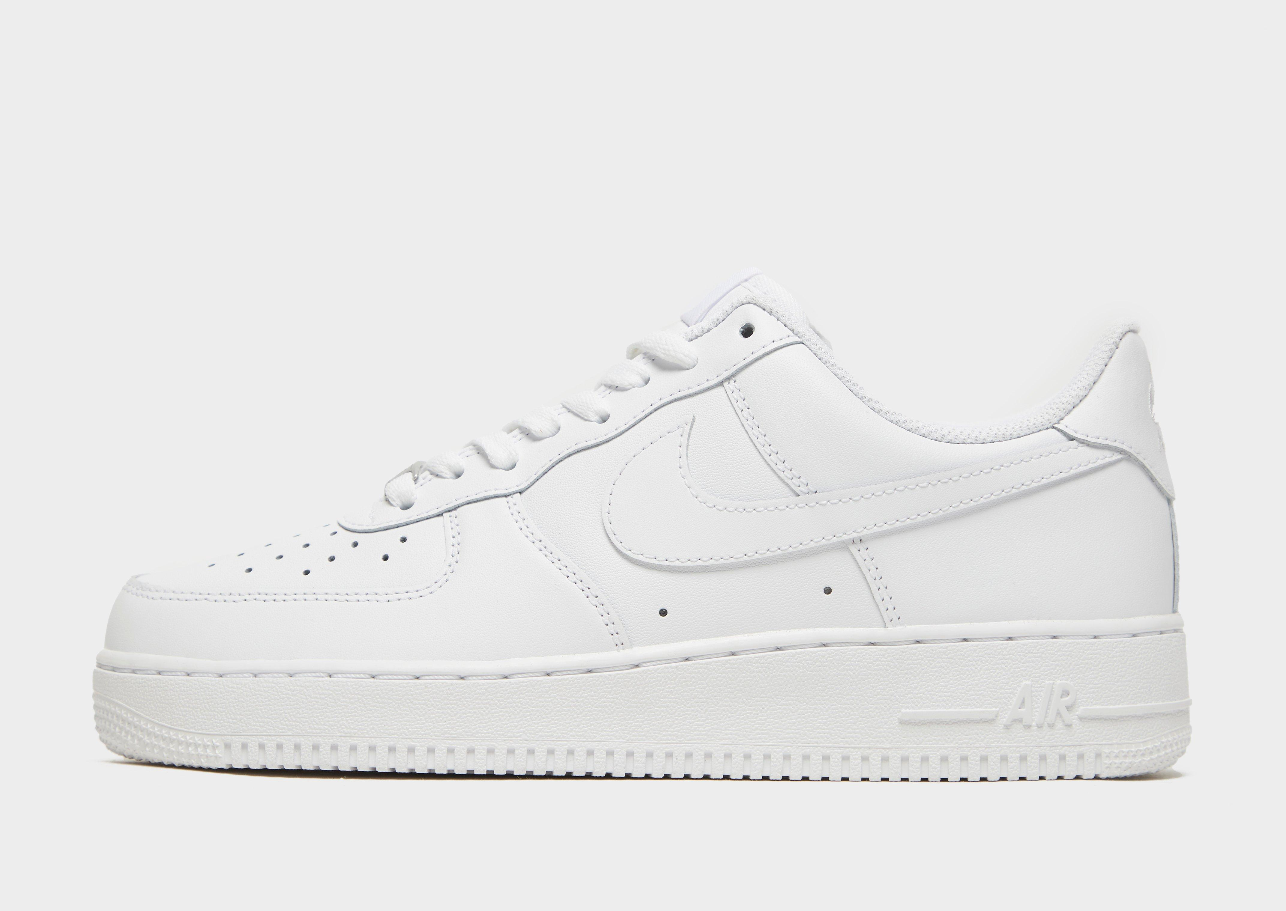 white nike air force 1 low top