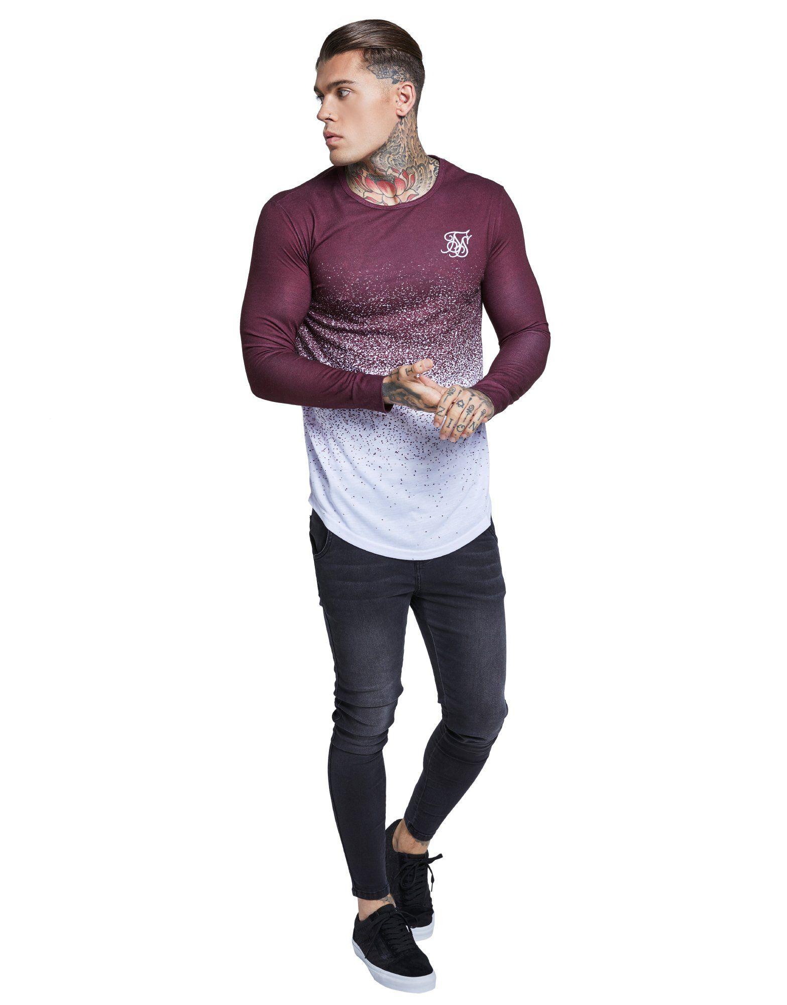 SikSilk Fade Long Sleeve T-Shirt