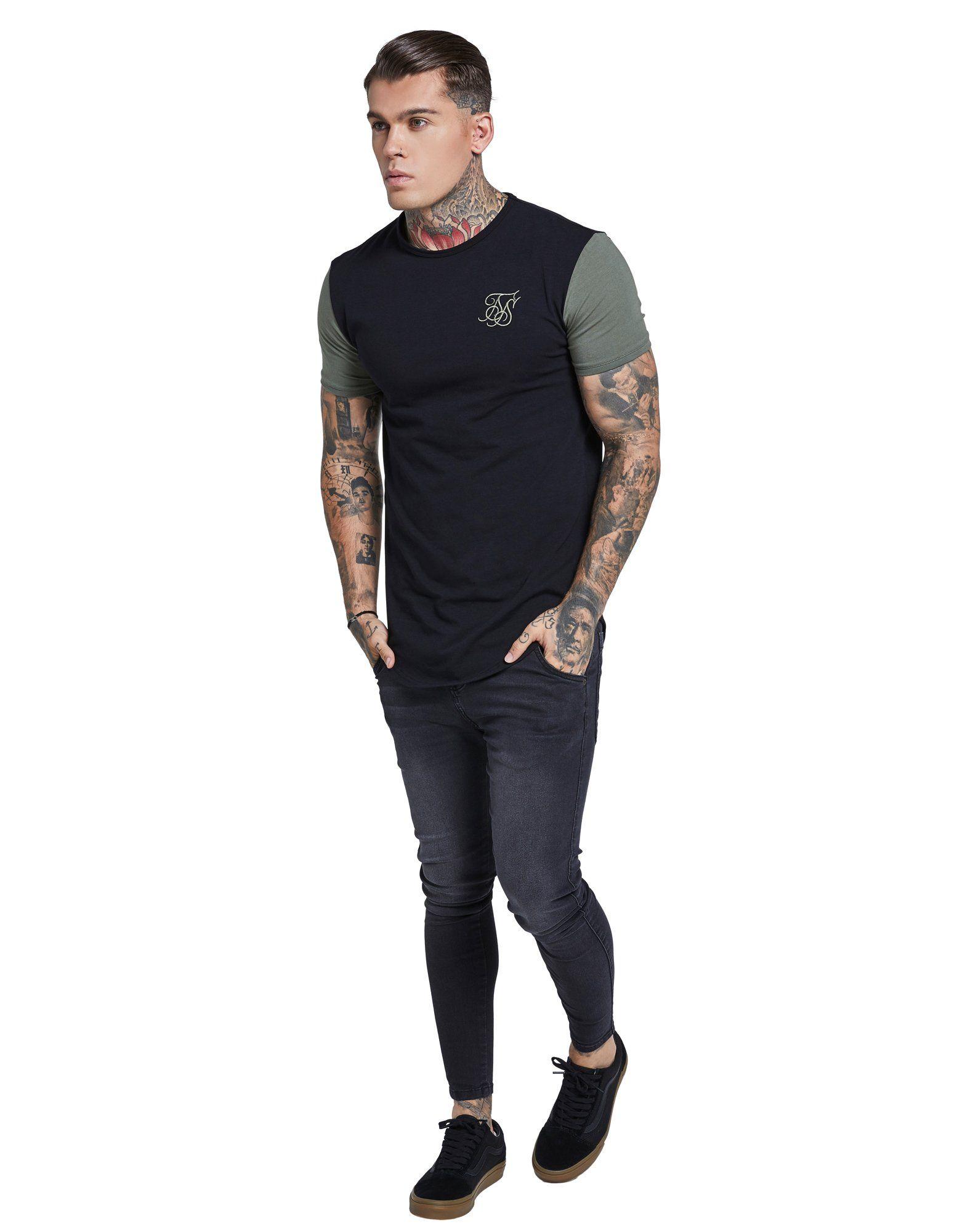 SikSilk Contrast T-Shirt