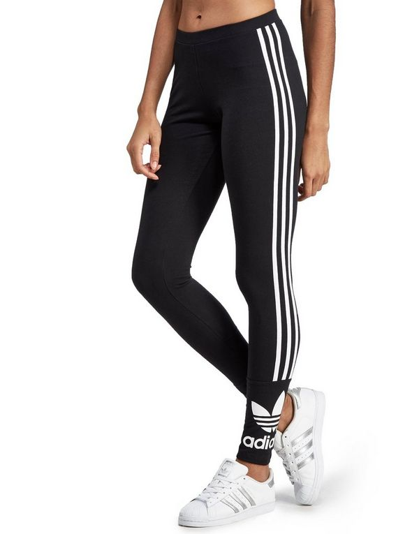 women's adidas originals blue trefoil leggings