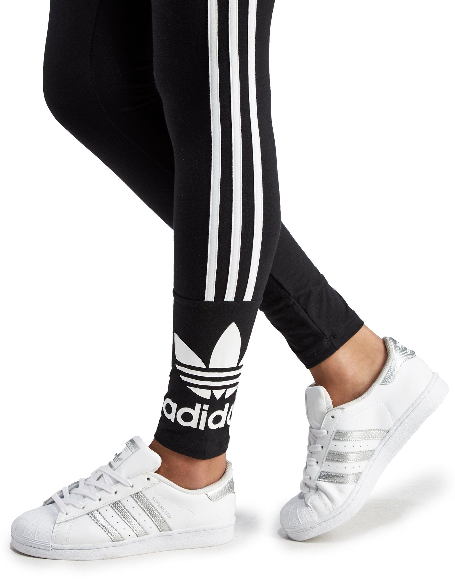 adidas Originals 3 Stripe Trefoil Leggings