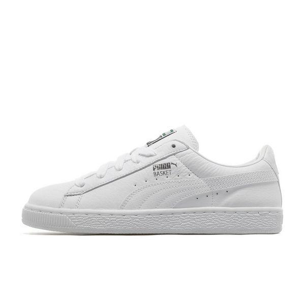 Puma Basket White Junior