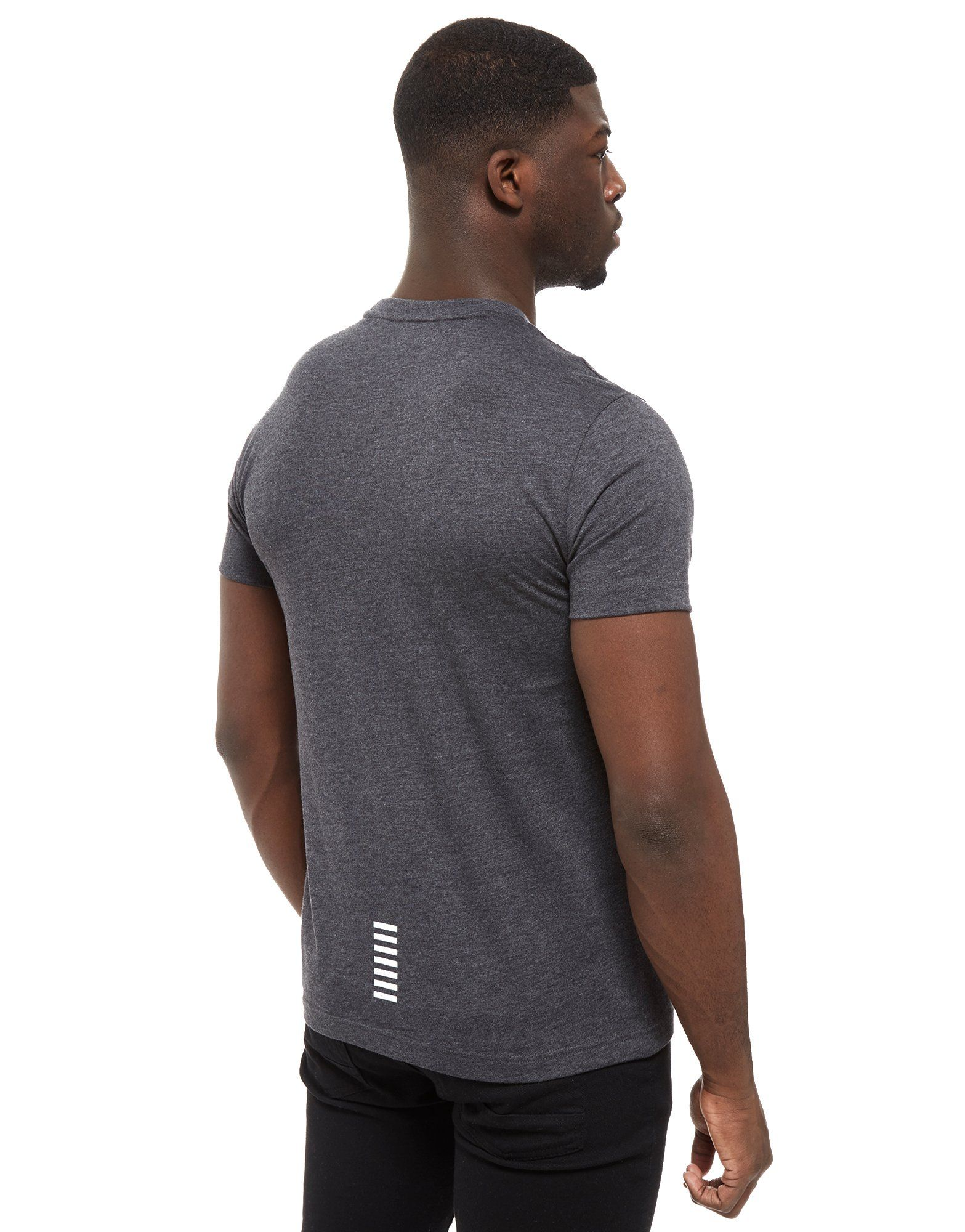 Emporio Armani EA7 Core Crew Neck Kurzarm T-Shirt Kohle Grau