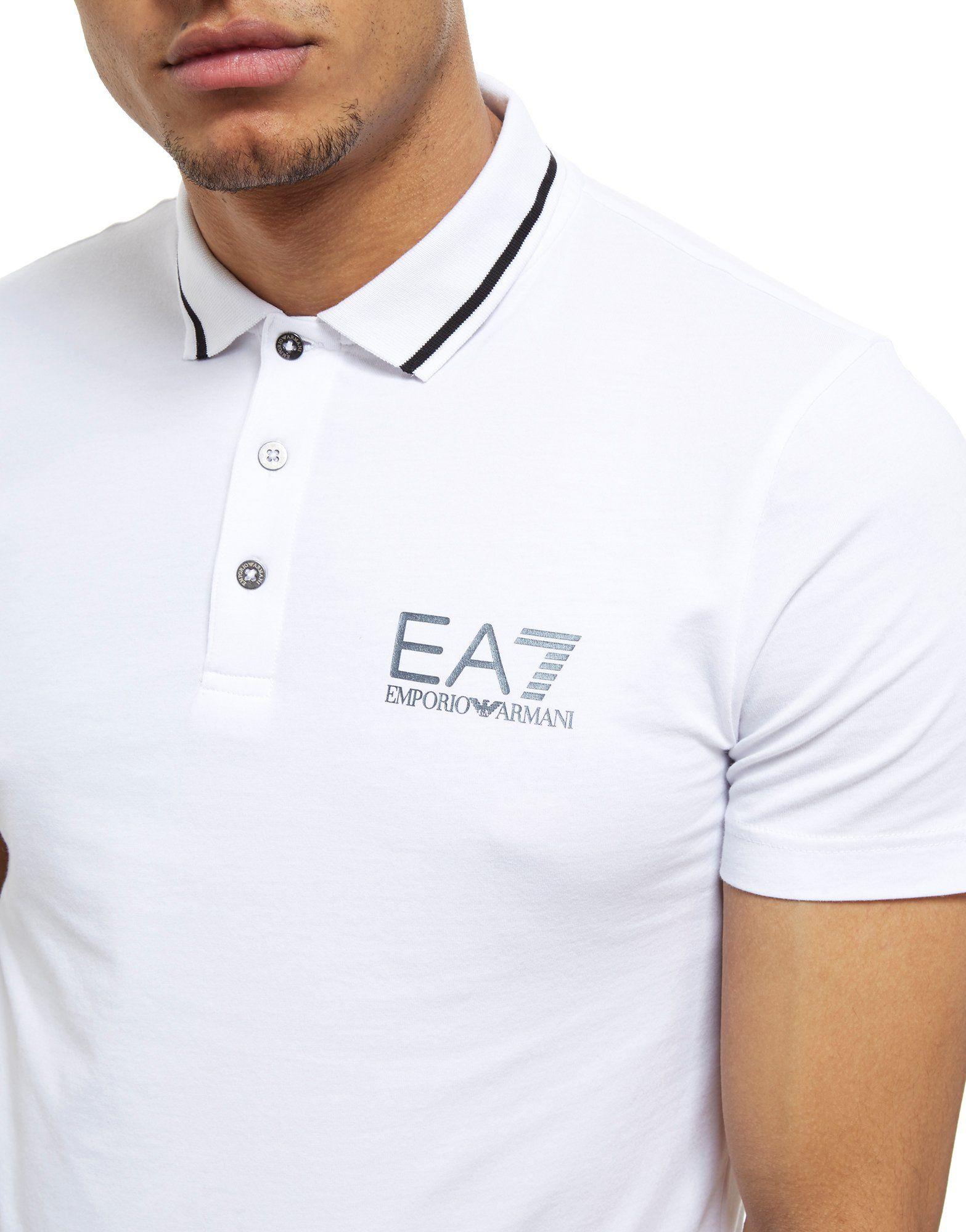 Emporio Armani EA7 Weiss Armani Shirt Polo Shirt Core Core Weiss Polo Emporio EA7 Armani Emporio HtYFwHq