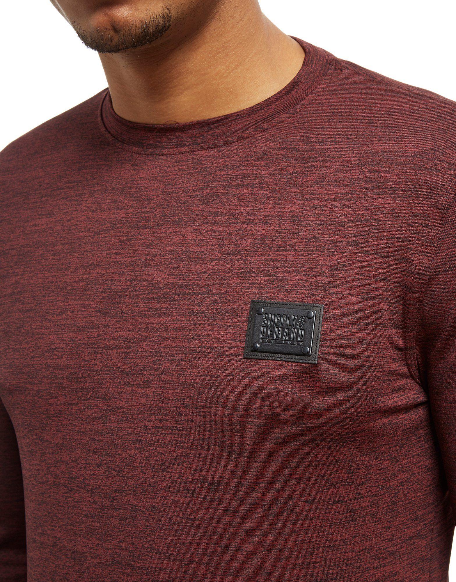 Hendrick T Supply amp; Supply Langarm Demand Shirt Truffle Truffle amp; Demand Rot Hendrick gpvqdg