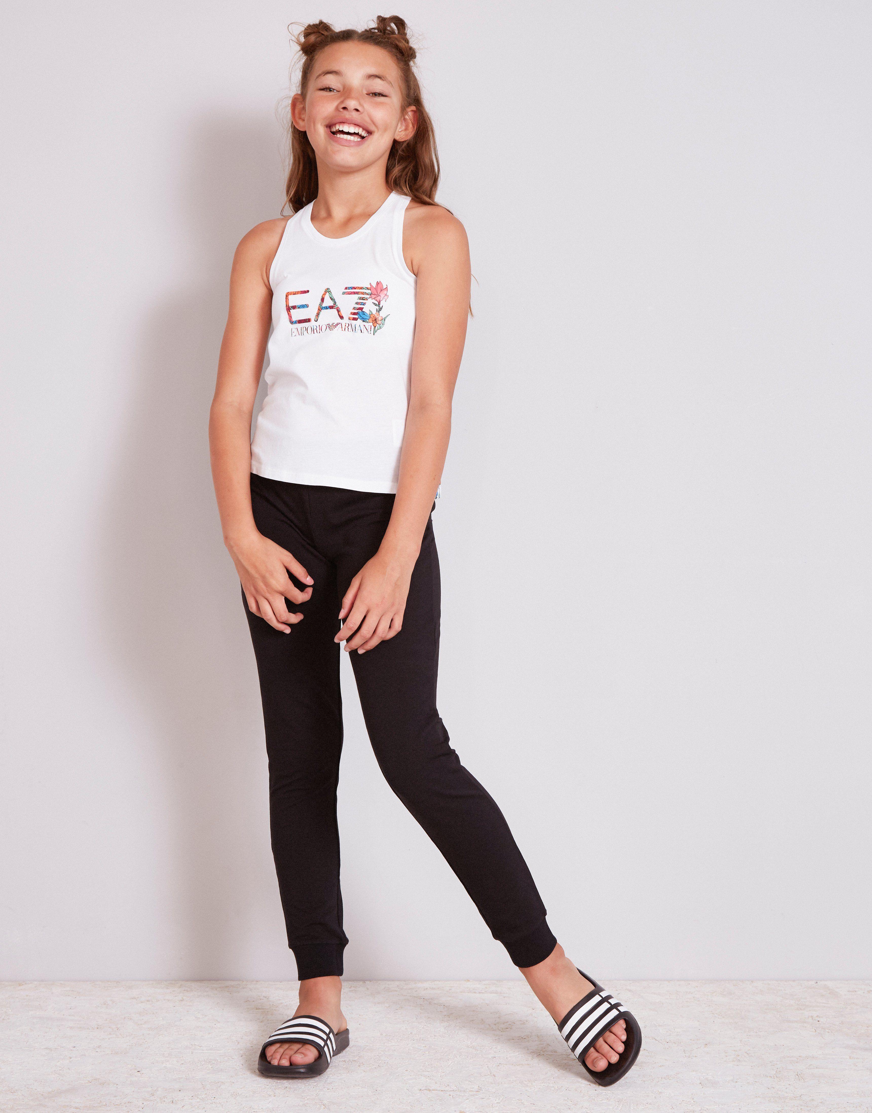 Emporio Armani EA7 Girls' Floral Logo Tank Top Junior
