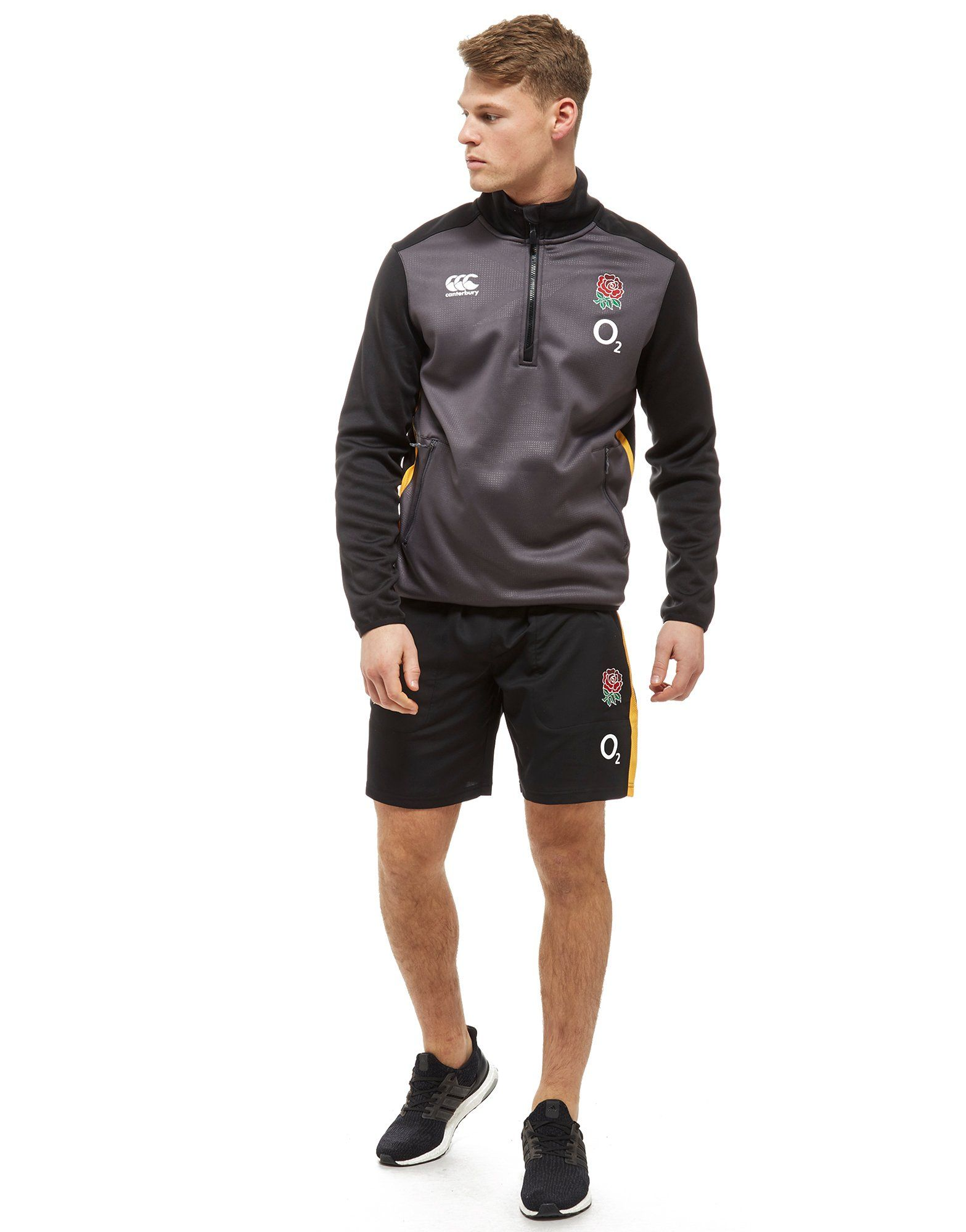 Canterbury England RFU Thermal Layer 1/2 Zip Fleece Grau