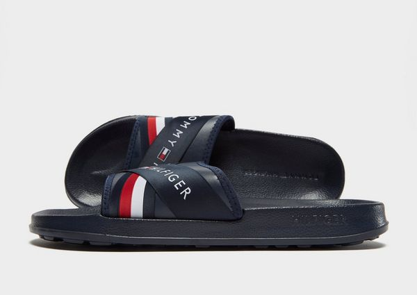 Tommy Hilfiger Splash Slides - Men's Flip Flops & Slides - Blue 037166