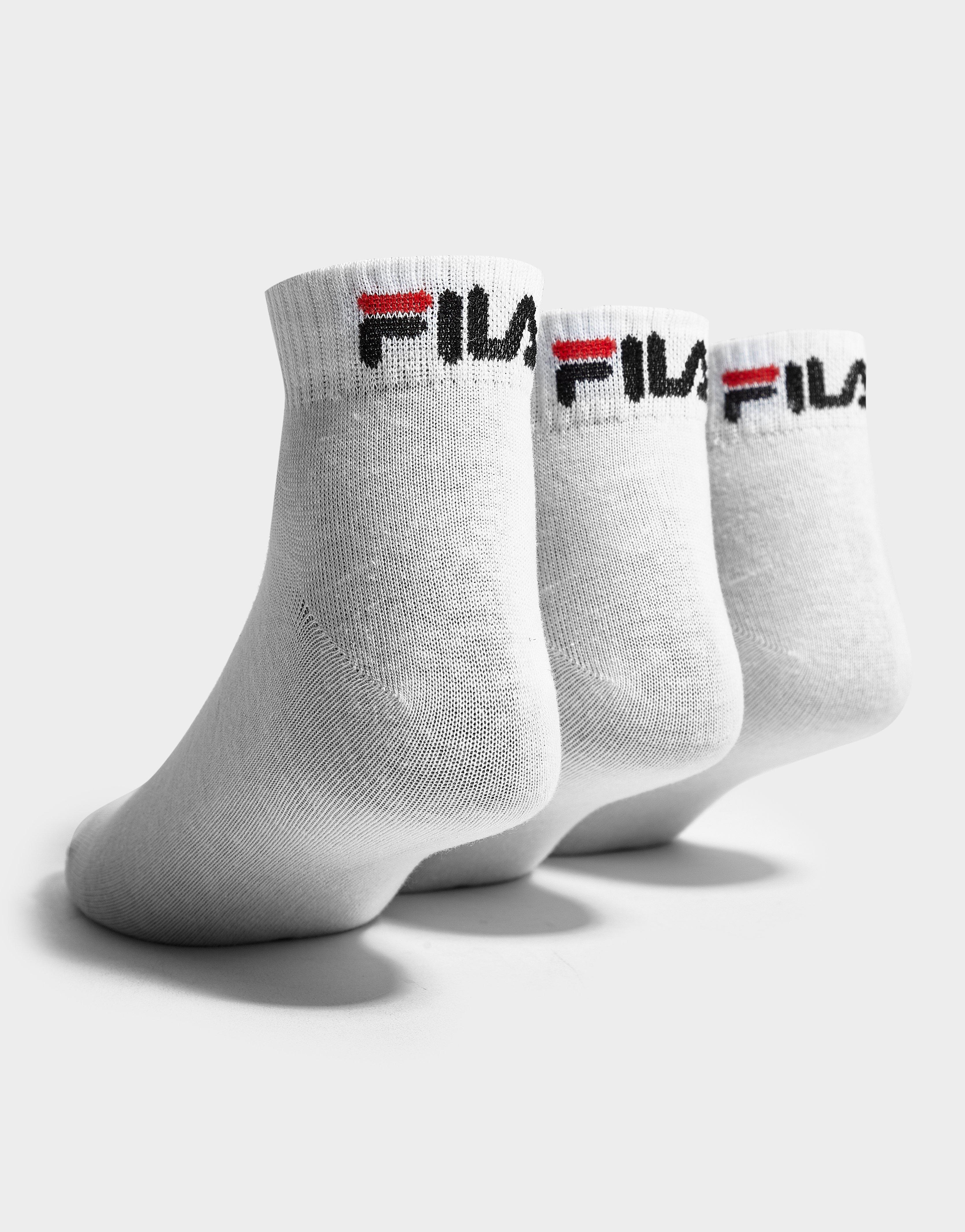 37b0ff63b New Fila Men s 3-Pack Quarter Footwear Accessories Socks White