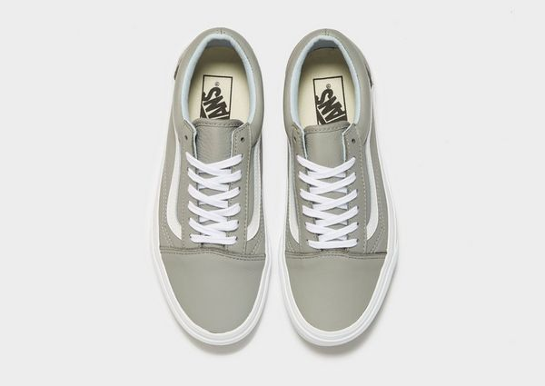 vans old skool grau leder