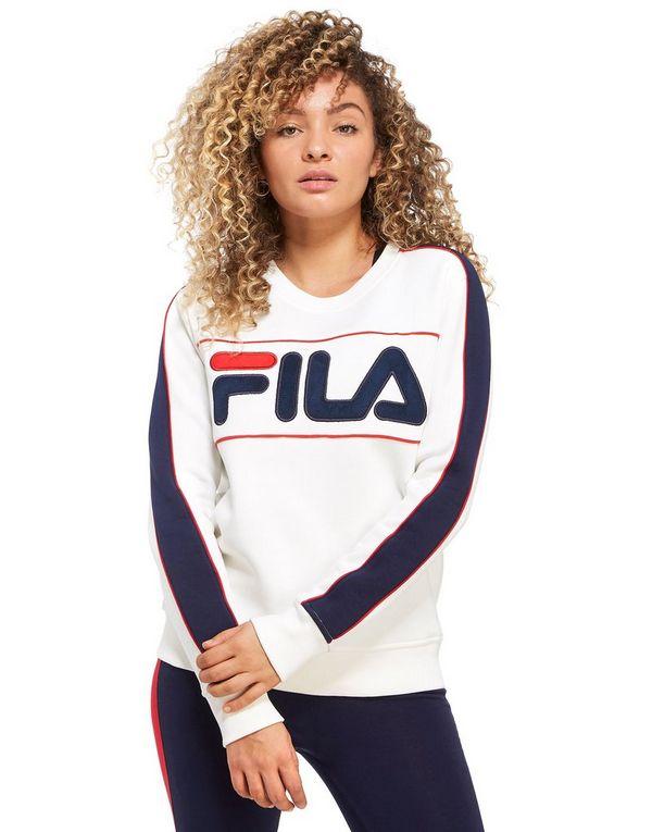 fila logo crew sweatshirt jd sports. Black Bedroom Furniture Sets. Home Design Ideas