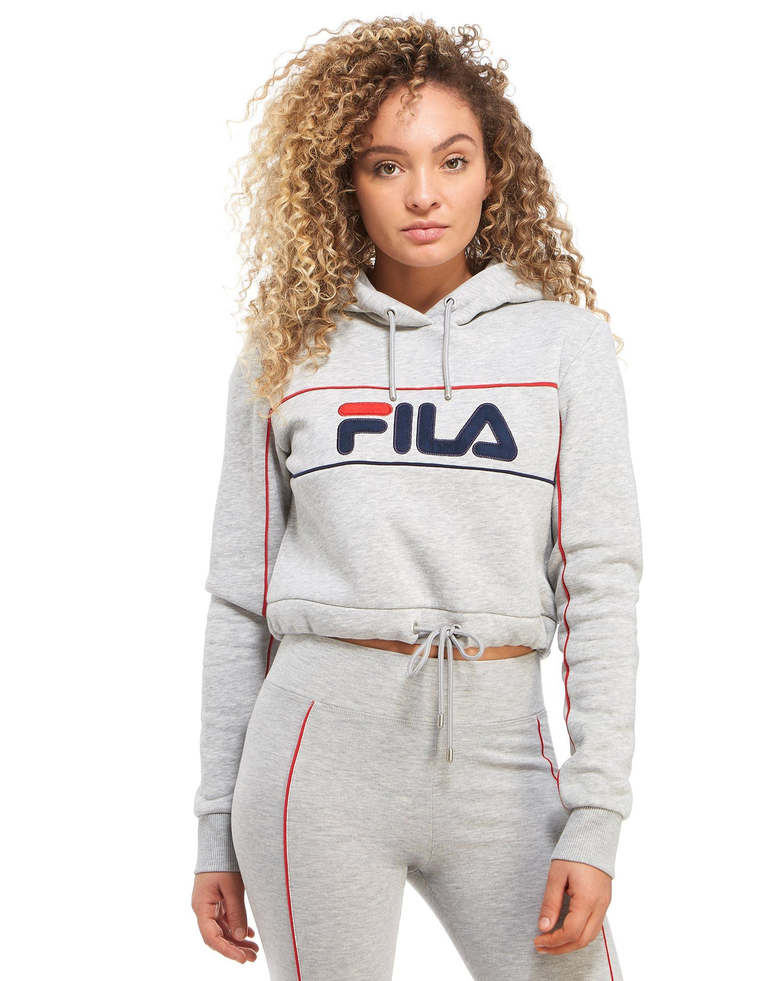 fila pipe logo crop hoodie jd sports. Black Bedroom Furniture Sets. Home Design Ideas