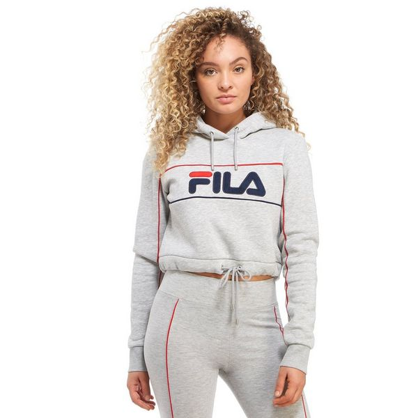 fila pipe logo crop hoodie jd sports. Black Bedroom Furniture Sets. Home Design Ideas