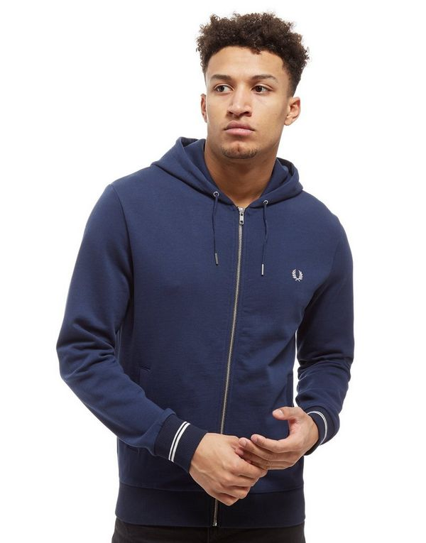 fred perry core zip through hoodie jd sports. Black Bedroom Furniture Sets. Home Design Ideas