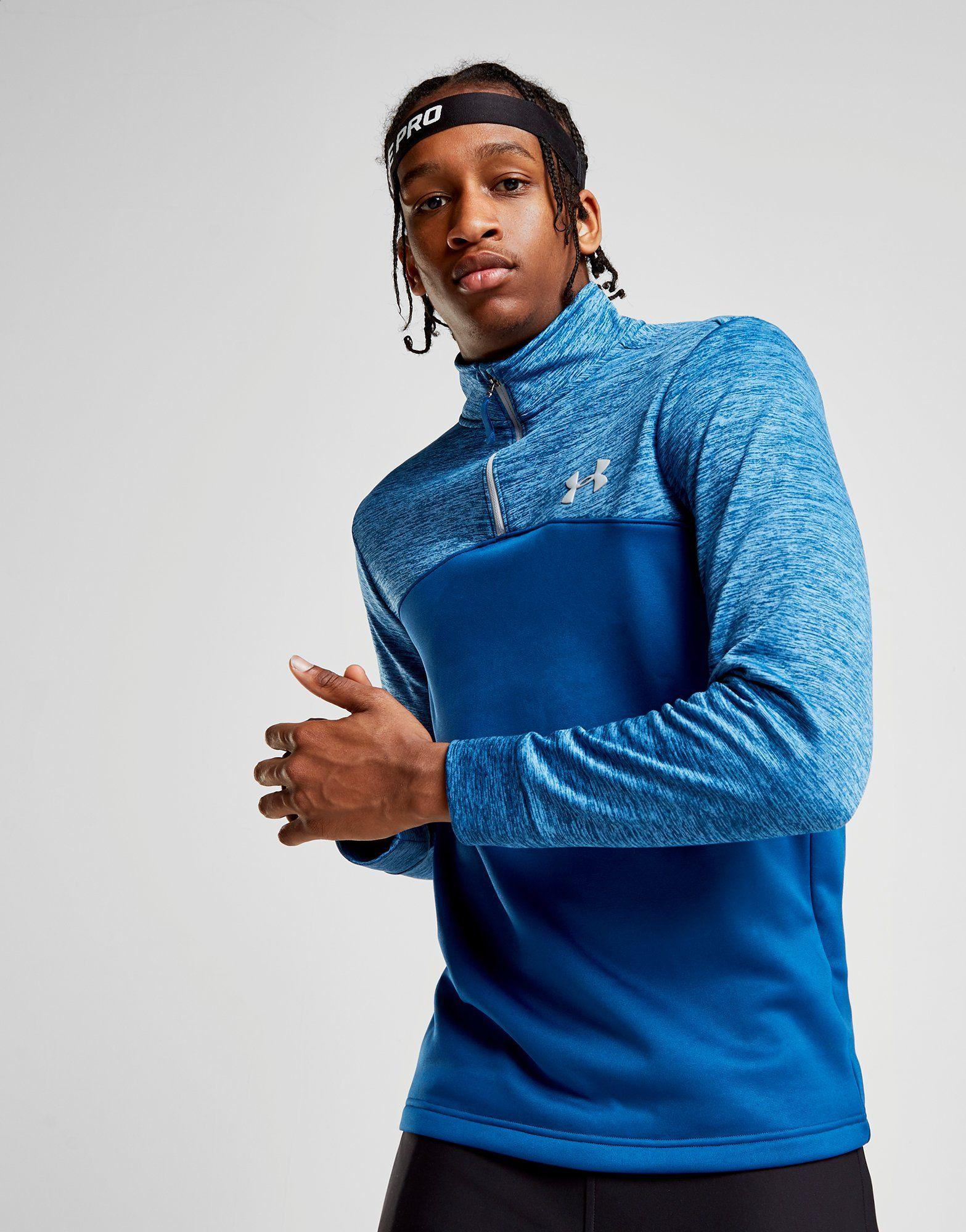 Fleece 1 Zip 4 Top Under Poly Twist Armour Blau Armour gqAwxxnOE