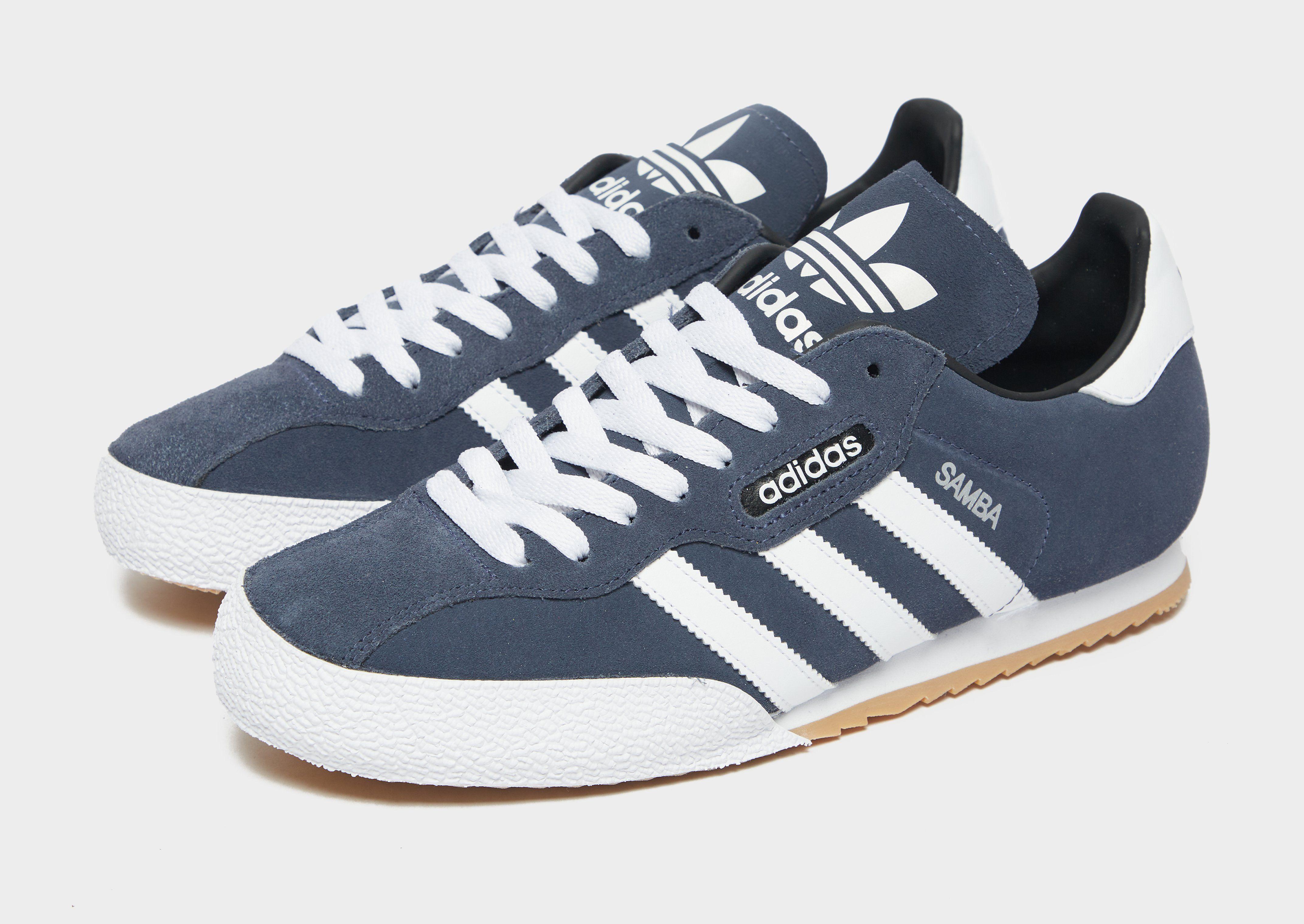 blue adidas samba jd