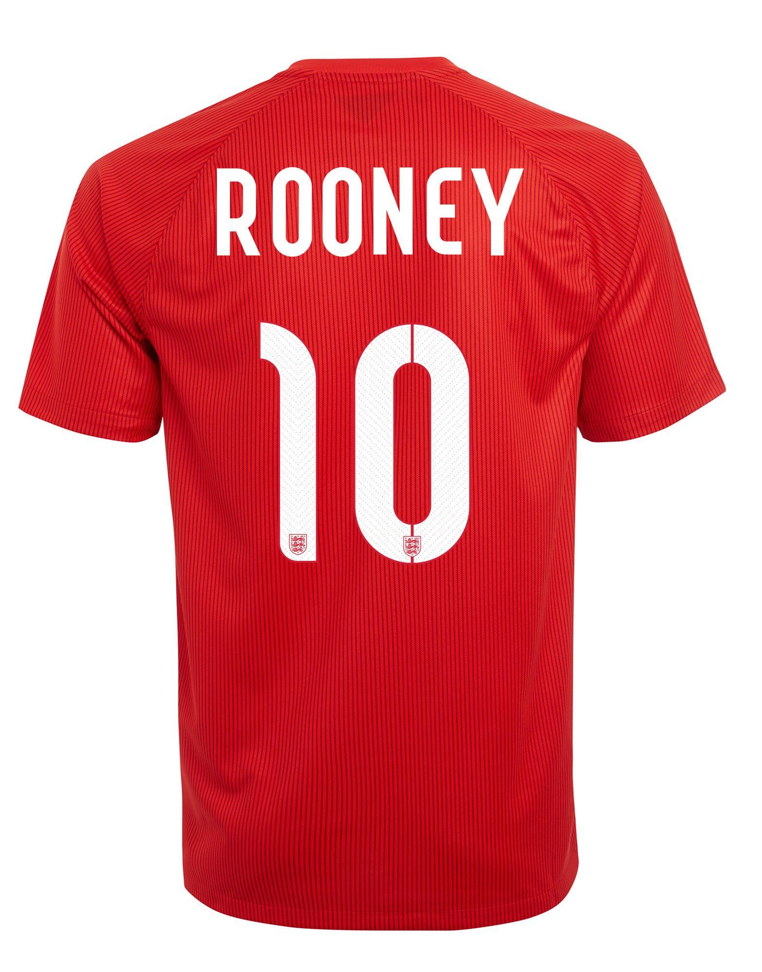 Nike England 2014 Junior Rooney Stadium Away Shirt