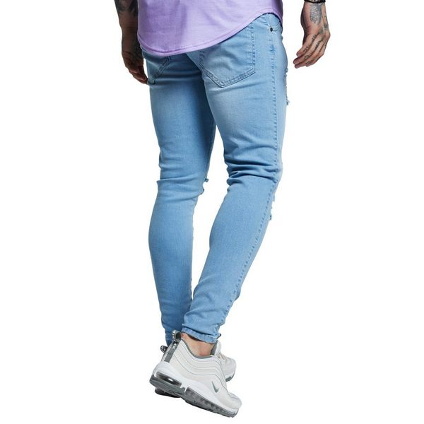 SikSilk Distressed Jeans Homme
